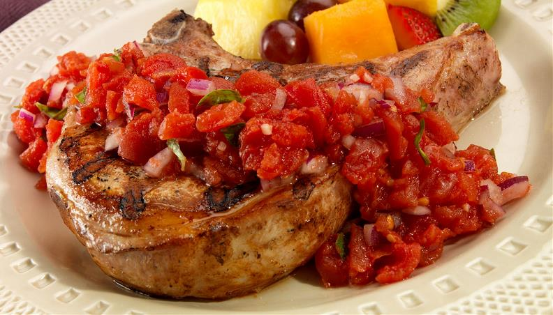 porkchop-with-bruchetta