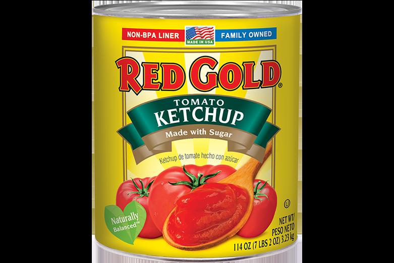 REDYL99_RedGold_TomatoKetchup_MadewithSugar_NatBalanced_#10Can_114OZ_Foodservice