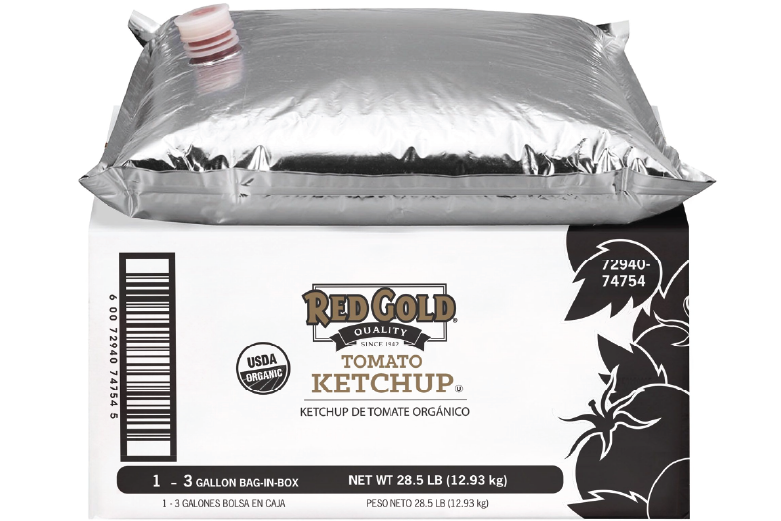 REDYV3G_RedGold_OrganicKetchup_Pouch_3gal_Foodservice